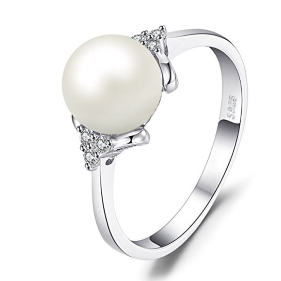 66ea1b69c Jewelry | Authentic White 8m Pearl Ring 925 Sterling Silver | Poshmark